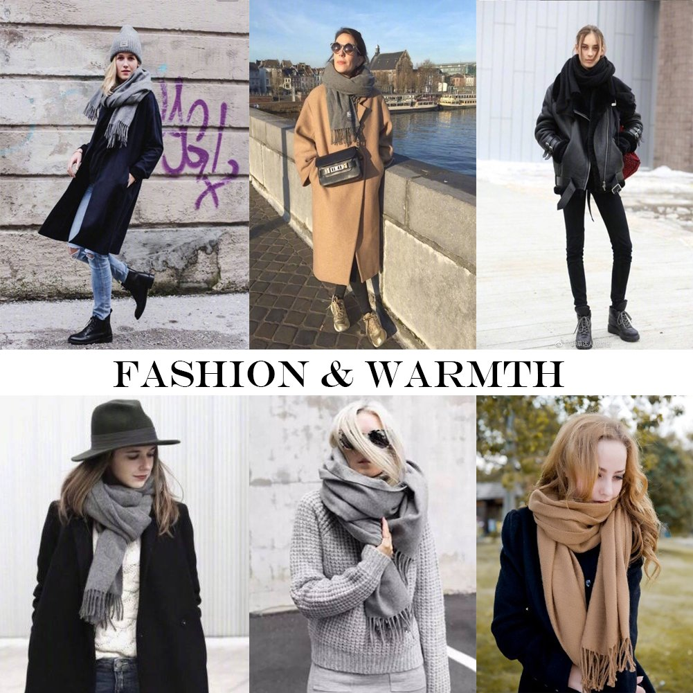 KAISIN 100% Wool Women Soft Shawl Ultra-Plush Comfort Largesize Blanket Scarf,Use For Home,Outdoor,Travel by KAISIN (Image #7)