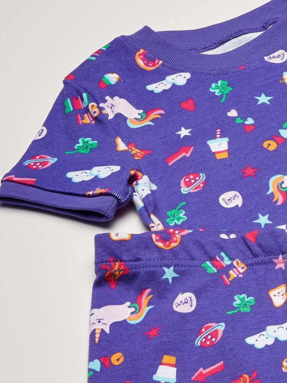 Marca Spotted Zebra 4-Piece Snug-fit Cotton Pajama Set Beb/é-Ni/ñas Pack de 4