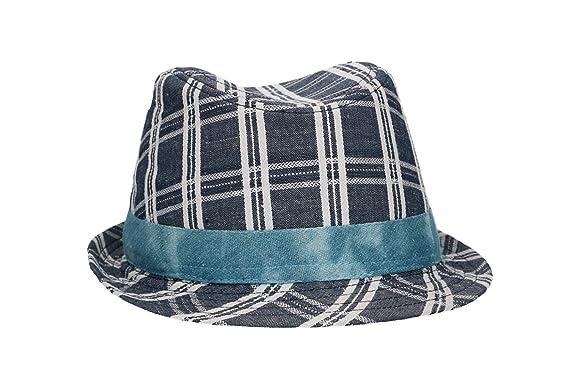 a38b4f17 Hat trilby man NAPOLI ENZO CASTELLANO blue tg.L VL444: Amazon.co.uk:  Clothing