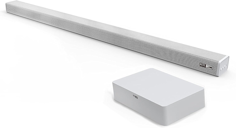 Altec Lansing Snow Sound Bar Altavoz soundbar 2.1 Canales 120 W Blanco - Barra de Sonido (2.1 Canales, 120 W, 60 W, 16 Ω, 30 - 150 Hz, 4 Ω)