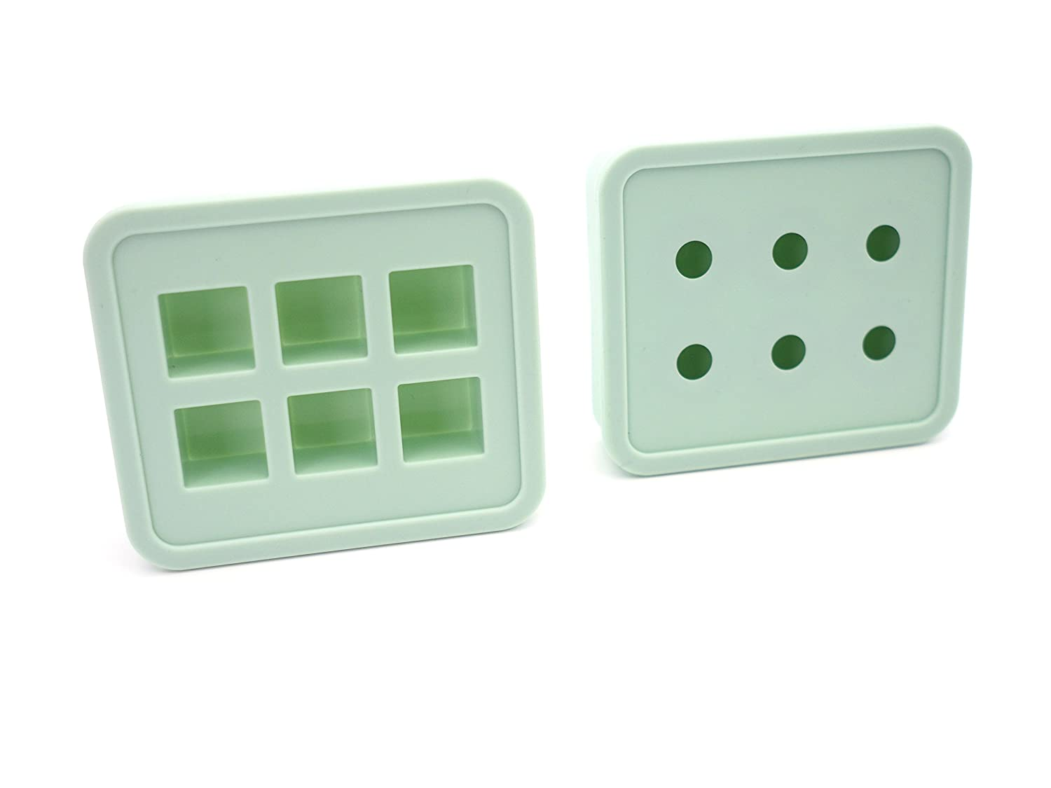 Creationtop DIY Liquid Resin Molds for Making Jewelry Necklace Pendant Charm Tools (Green set Cube/Ball) CT-RM-205