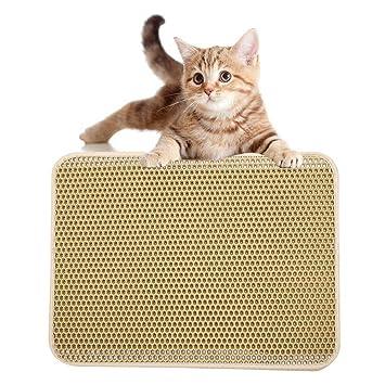 AOLVO - Alfombrilla Impermeable para Arena de Gato con Trampa de tamaño: 40 x 50