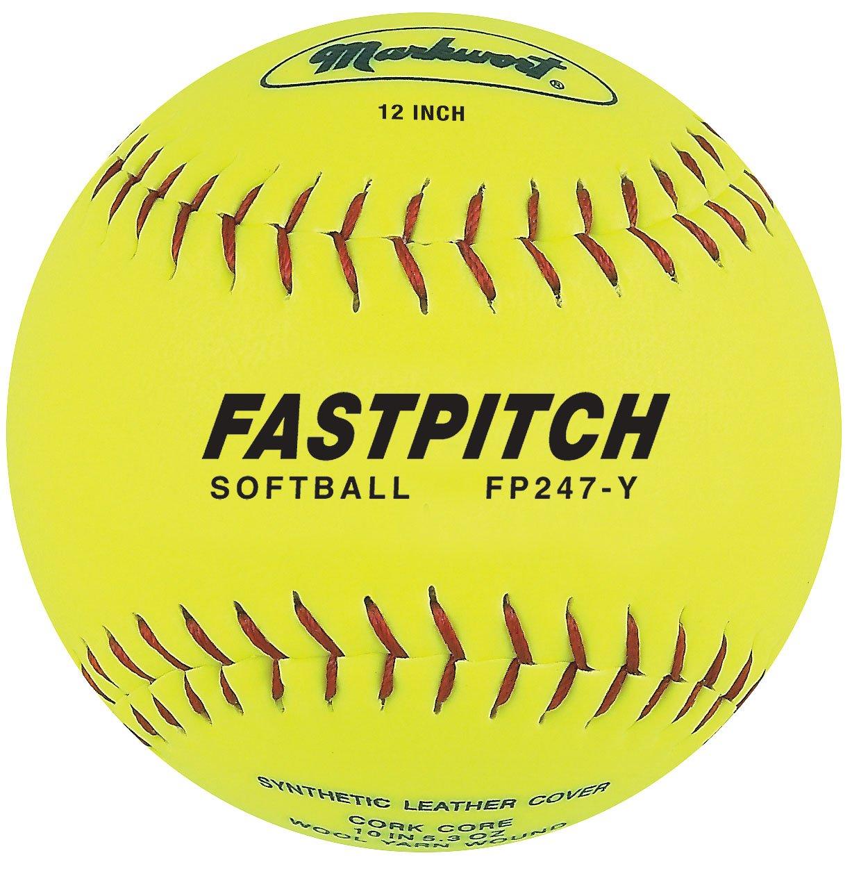 Markwort Fastpitch - Pelota de Softball (Piel auténtica, 30,5 cm ...