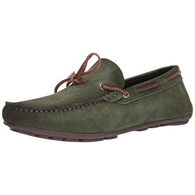 Driver Club USA Men's Leather Luxury Loafer with Tiebow Detail Driving Style, Emerald Green Nubuck, 10 M US | Loafers & Slip-Ons