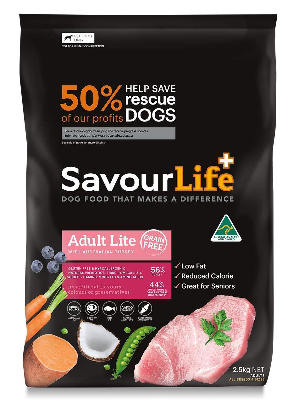 10kg Savourlife Grain Free Lite Dog Food Turkey 10kg