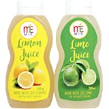 MIE Lemon and Lime Juice Concentrate Combo, 200ml (Pack of 2)