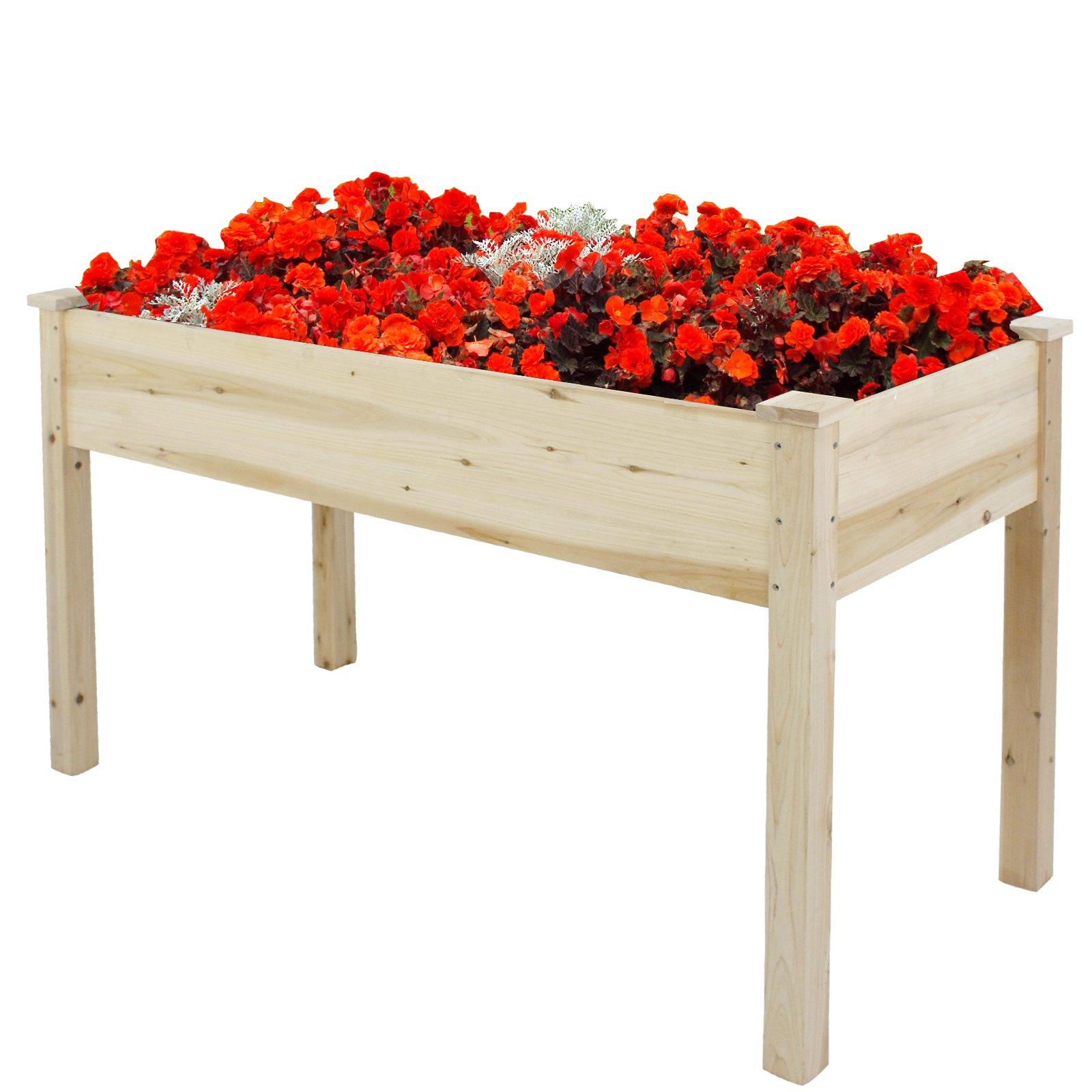 Nova Microdermabrasion Wooden Raised Garden Bed Elevated Planter Kit Growing Herb,Vegetable,Flower,Fruits For Patio Yard Gardening