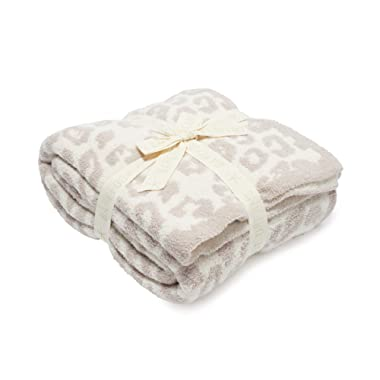 Barefoot Dreams  Barefoot in the Wild  Throw Blanket - Leopard, Cream/Stone