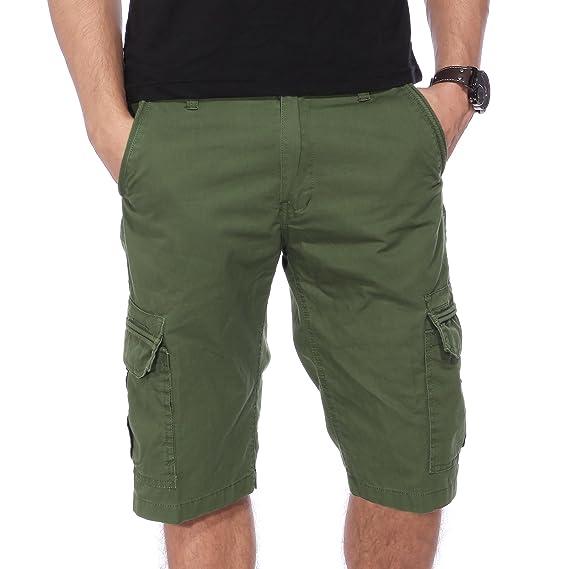 Bermuda Pantalon cargo homme pantacourt short casual plage sport 3 taille  noir kaki vert style 3(taille à reporter à la derniere image dans l annonce! 2297123466d