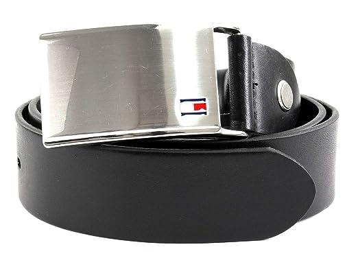 cf7d21093a70 Tommy Hilfiger Th Plaque Belt 3.5 Adj, Ceinture Homme, Noir (Black 01995-002