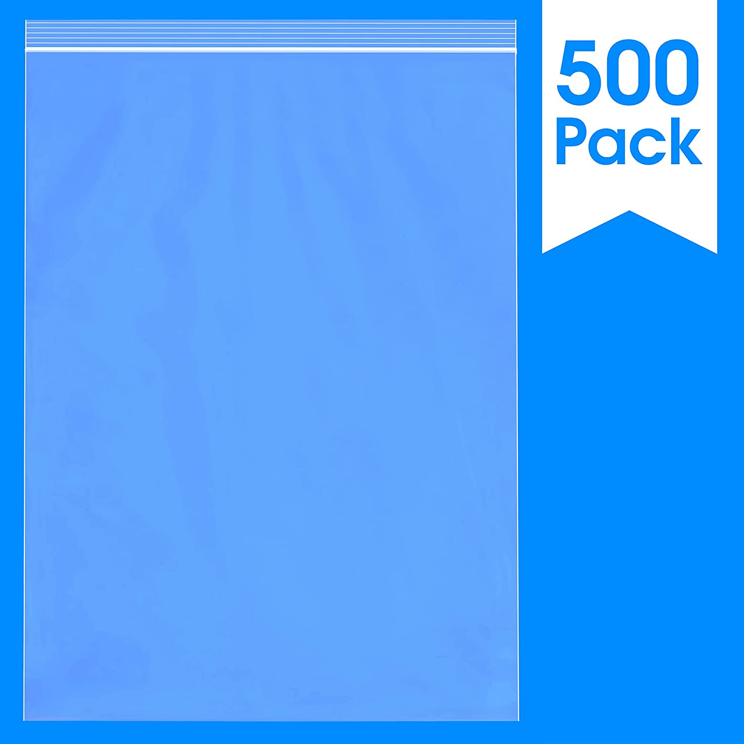 "Spartan Industrial || 500 Count - 13 X 18"" - 2 Mil Clear Plastic Reclosable Zip Poly Bags with Resealable Lock Seal Zipper (More Sizes Available)"