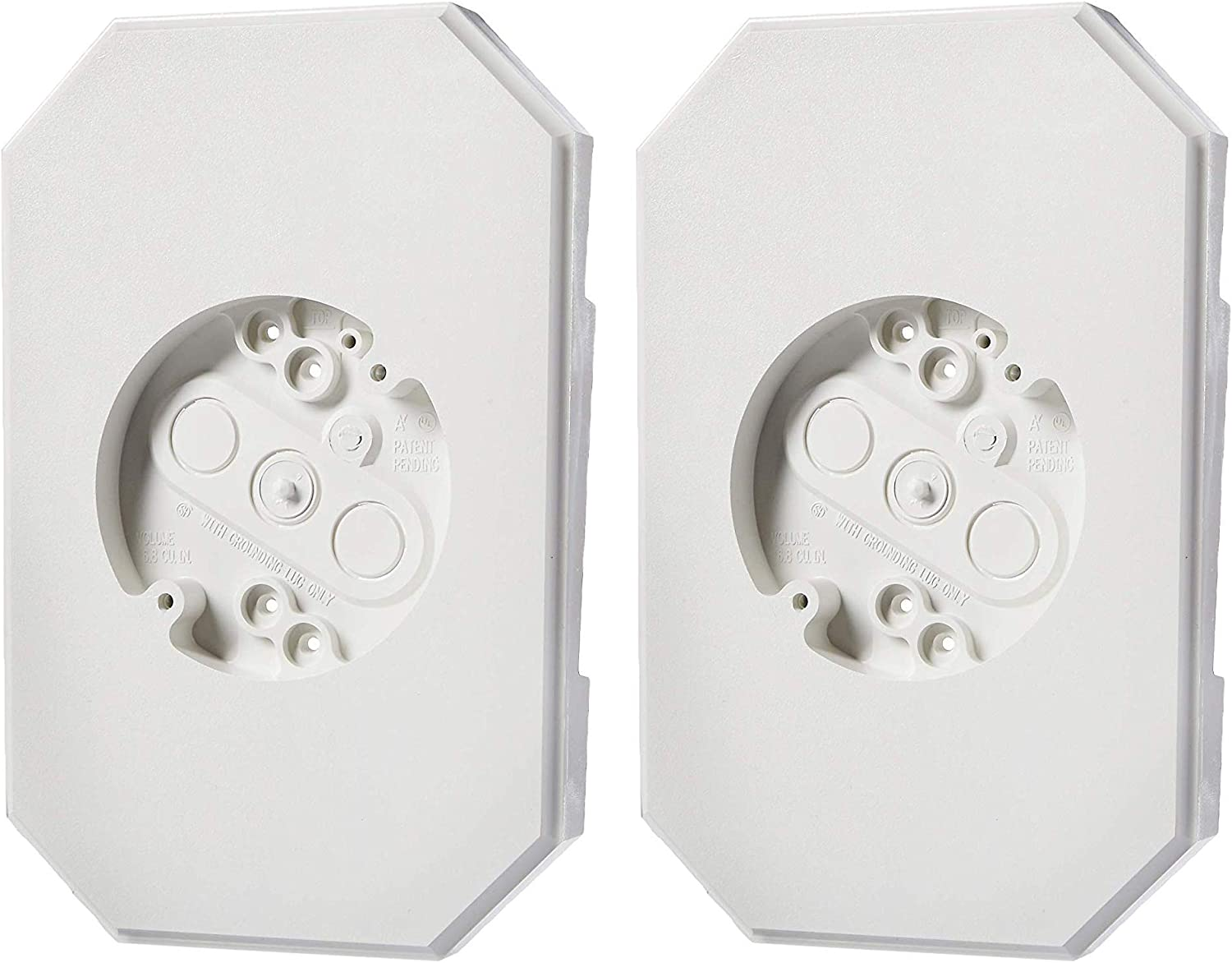 Arlington 8141DBL Siding Mounting Kits with Built-in Box, White, 1/2-Inch (2 Pack)