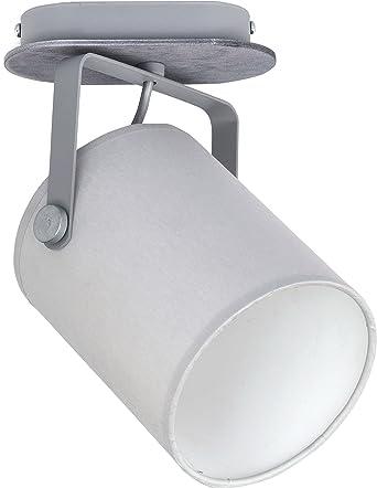 Deckenleuchte Wohnzimmer Lampe E27 Leuchte Schlafzimmer Schwenkbar Weiss  Schwarz Grau (Grau 1)
