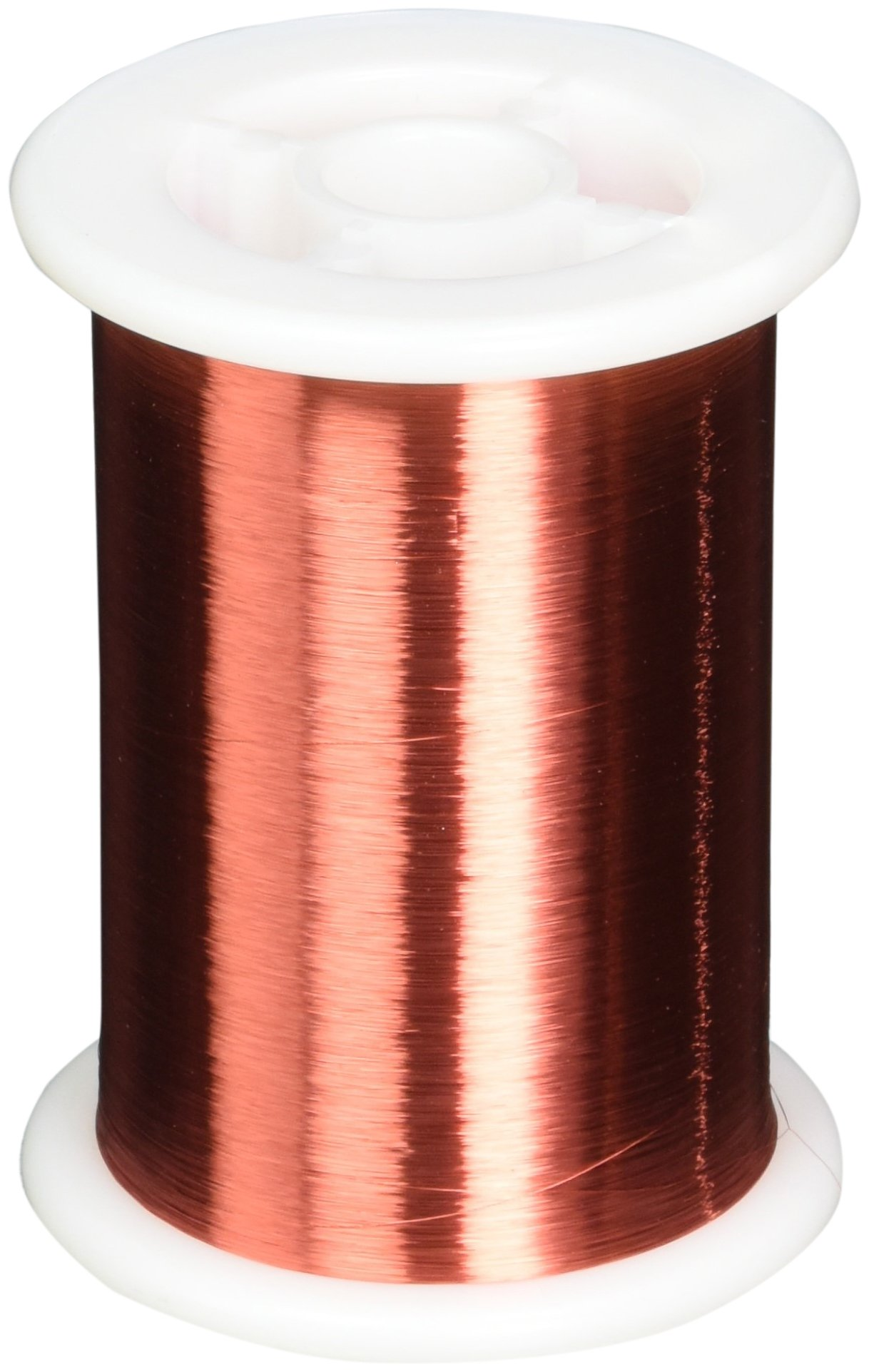Remington Industries 42SNSPR.5 42 AWG Magnet Wire, Enameled Copper Wire, 8 oz, 0.0026'' Diameter, 25657' Length, Red