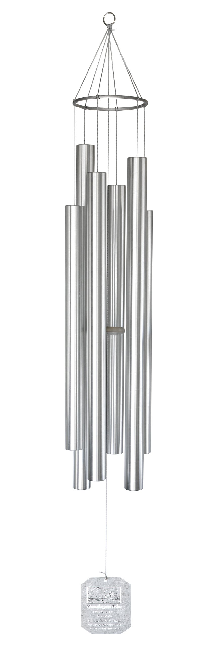 Grace Note Chimes 3XXX Deluxe Himalayan Echo Wind Chimes, 84-Inch, Silver