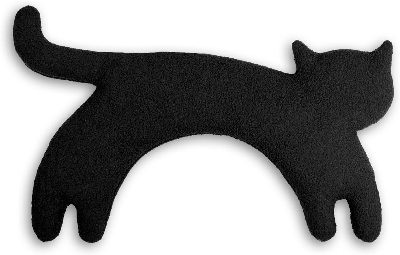 Leschi | Almohadilla de calor (para las cervicales y los hombros) | 36529 | La gata Minina | de pie | grande | Color: Medianoche/Medianoche