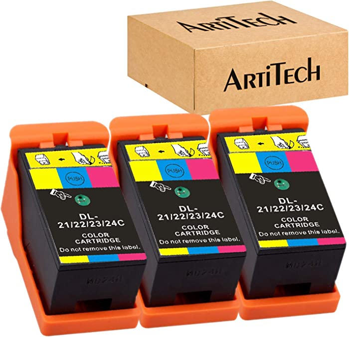 Replace for Dell Series 21 Ink Cartridges Compatible for Dell V515w, V715w, P513w, P713w, V313, V313w, P713w, All-in-One Printers 3 Pack Color for Dell Series 21, Series 22, Series 23