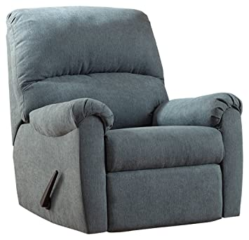 Amazon.com: Ashley Furniture Signature Design   Zeth Rocker Recliner    Contemporary Reclining Chair   Blue: Kitchen U0026 Dining