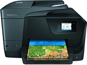 HP OfficeJet Pro 8710 All-in-One Wireless Printer, HP Instant Ink or Amazon Dash replenishment ready (M9L66A), Black