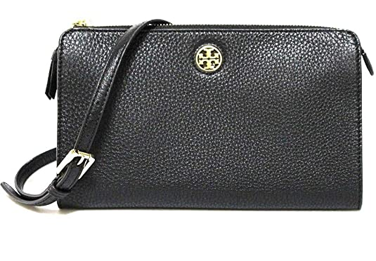 acf848367 Amazon.com: TORY BURCH BRODY PEBBLED LEATHER WALLET CROSSBODY WOMEN'S BAG:  Shoes