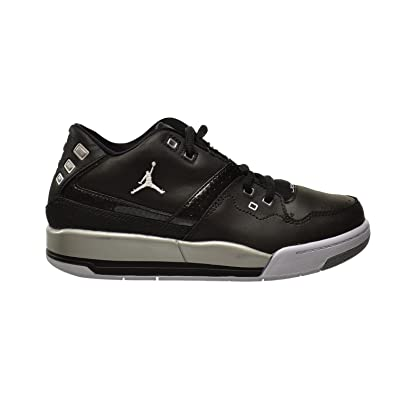 c2339b30af64b2 Jordan Flight 23 BP Little Kids Shoes Black White-Metallic Silver 317822-011