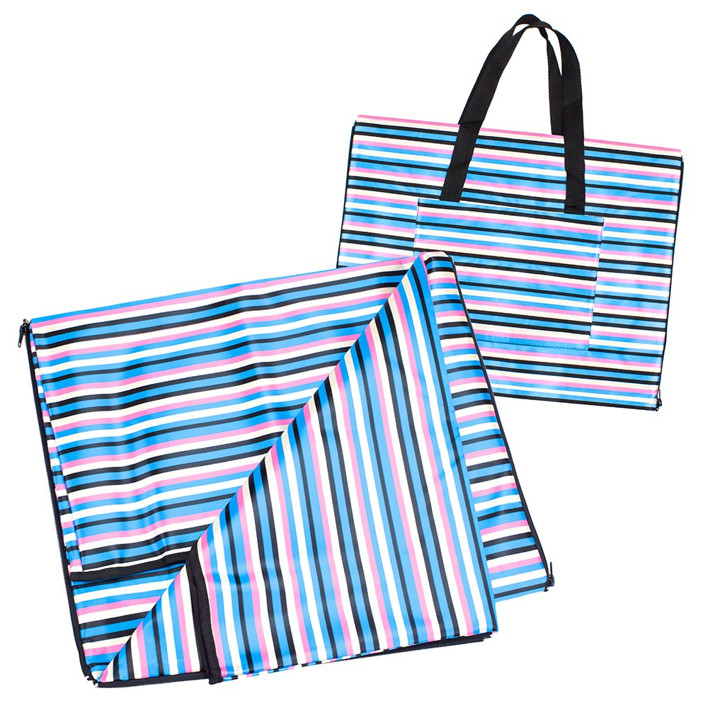 2-in-1 Beachcomber's Blanket XL, Water-Resistant 56 x 38 Mat and High-Capacity Tote by Sol Coastal