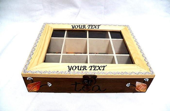 Caja de Té, Caja de Almacenamiento del Té, Organizador de Cocina, Caja de
