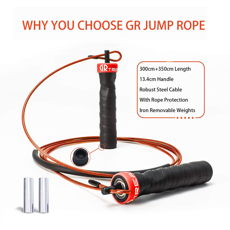 C/âbles ajustables de 10 pi poign/ée antid/érapante corde lest/ée WOD GUARD /& REVIVAL TREAT Corde /à sauter rapide MMA et boxe entra/înement en ext/érieur entra/înement pour doubles sous-v/êtements
