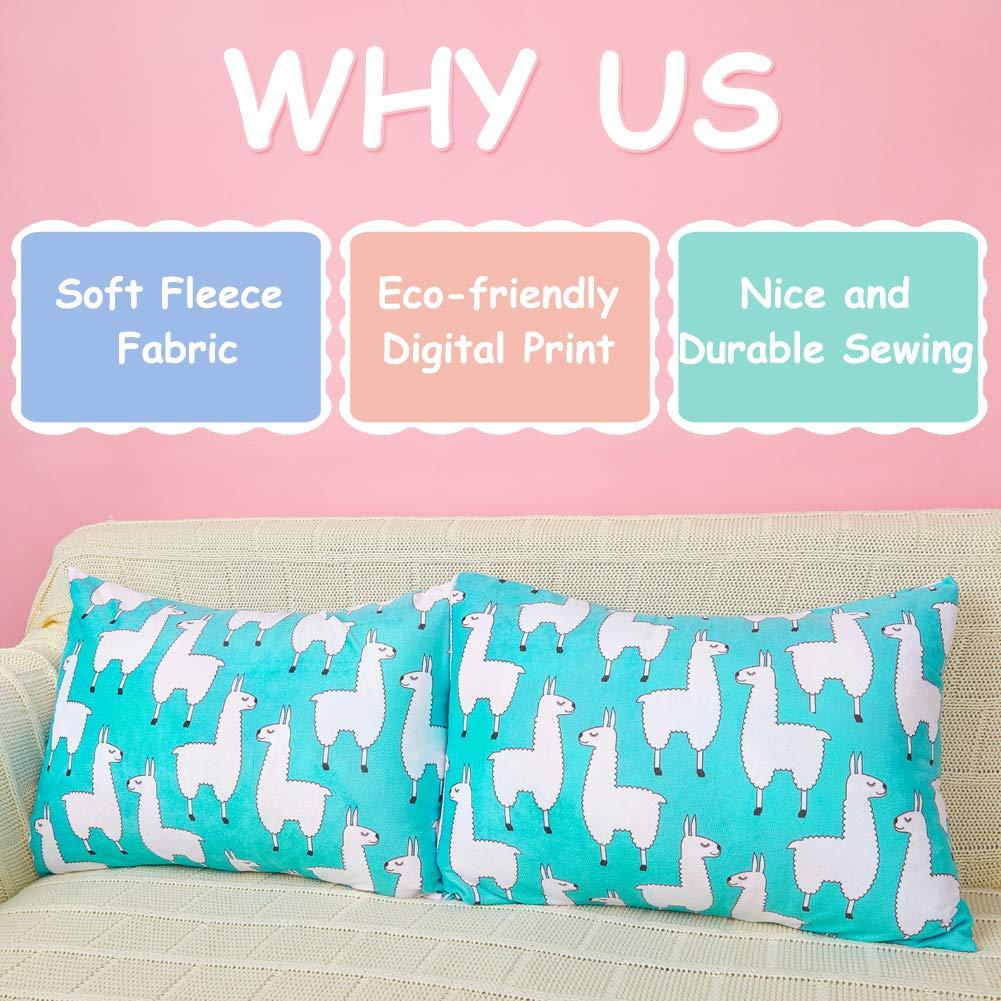 Play Tailor Toddler Pillowcase 2 Pack 14x19 Ultra Soft Velvet Fleece Pillow Case for Kids Sleeping Napping No Insert Owl