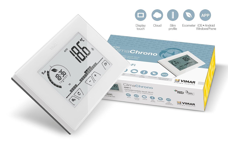 Vimar - Cronotermostato tactil wi-fi superior blanco: Amazon.es: Bricolaje y herramientas
