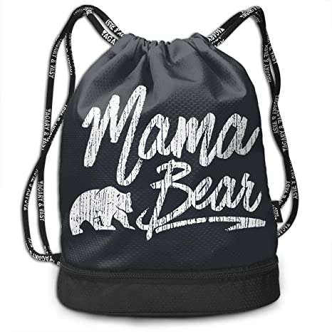 9396ef7bd947 Amazon.com  Brady Johnson Mama Bear Waterproof Gym Sackpack ...