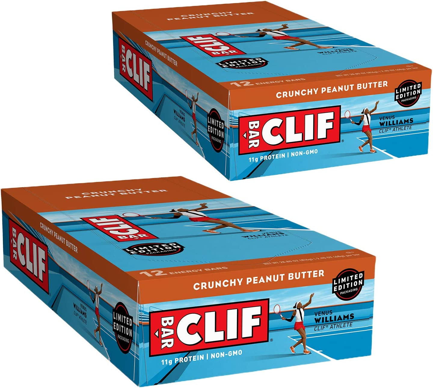 CLIF BARS - Energy Bars - Crunchy Peanut Butter - Made with Organic Oats - Plant Based Food - Vegetarian - Kosher (2.4 Ounce Protein Bars, 24 Count) Packaging May Vary