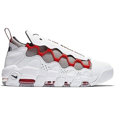 Nike Air More Money Men's Basketball Shoe (12 M US, White/Black/Habanero Red/Atmosphere Grey) | Basketball