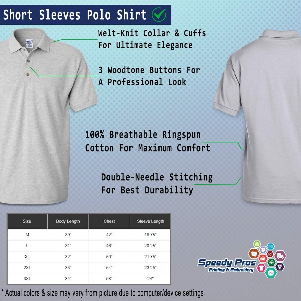 Custom Polo Shirts for Men Massachusetts Boston USA A Embroidery Cotton