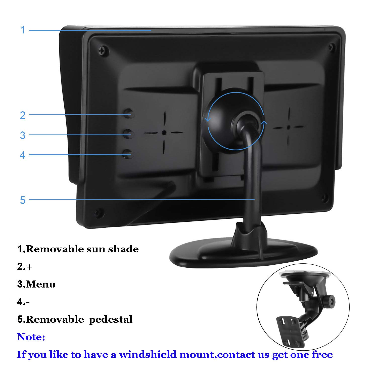 Emmako Backup Camera and 4.3 Monitor System For Car//SUV//RV//Pickup//Truck//Trailer IP68 Waterproof Night Vision Rear View Camera Single Power Reversing//Driving Use With Guide Lines 4332965715