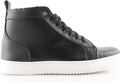 Scarpe Sneakers Uomo Invernali Nere Alte Pelle Sportive Made in Italy 39 40 41 42 43 44 45