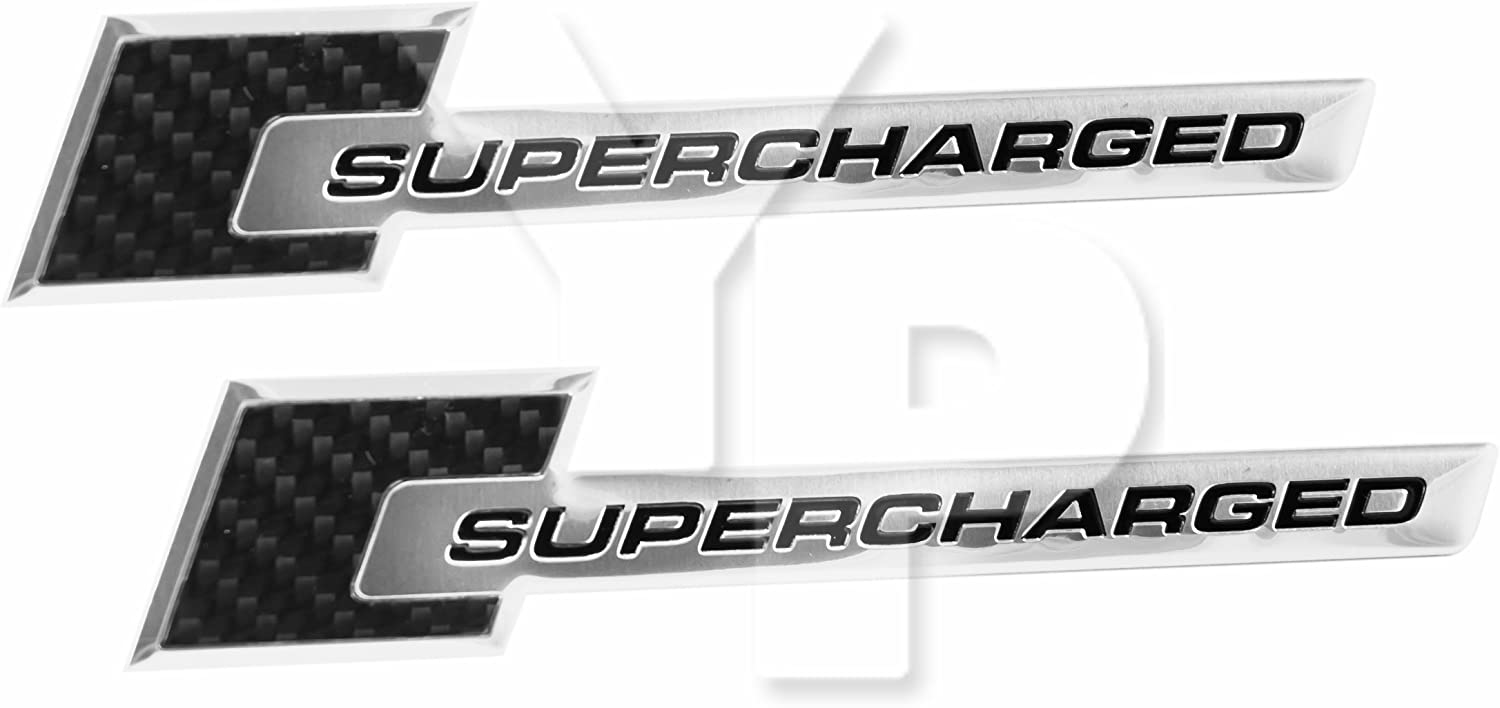 FORD MUSTANG GT CARBON FIBER SUPERCHARGED EMBLEMS RED