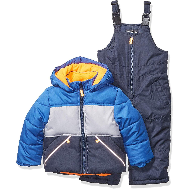 Osh Kosh Baby Boys Ski Jacket and Snowbib Snowsuit Set, Wedgewood Blue/Deep Navy, 18Mo by OshKosh B'Gosh
