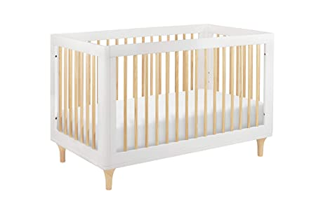 Babyletto Lolly 3-in-1 Convertible Crib with Toddler Rail, White Natural