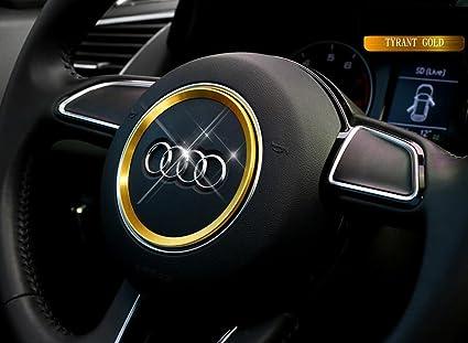 for toyota Camry 2018-2019 Steel Car Steering Wheel Center Decor Ring Logo Trim