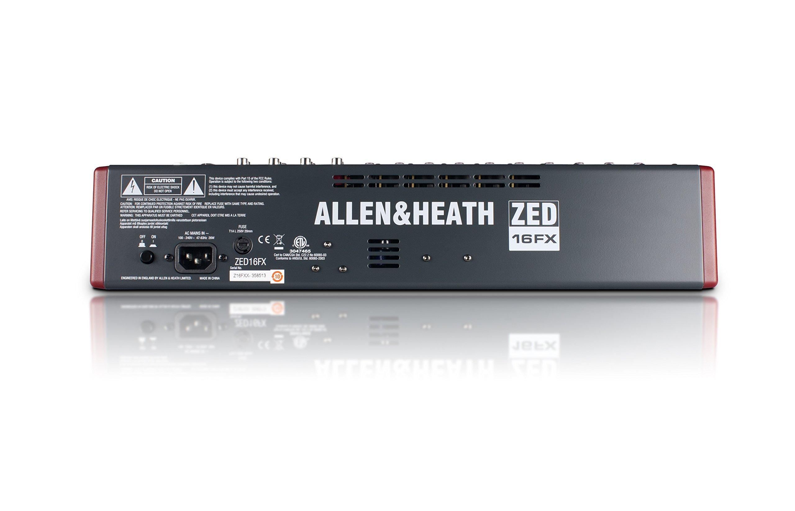 Allen & Heath ZED-16FX 16-Channel Multi-Purpose USB Mixer with FX for Live Sound and Recording by Allen & Heath (Image #6)