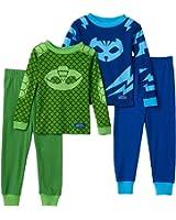 PJ Masks Toddler Boys 4-Piece Catboy & Gekko Sleepwear Pajama Sets 2T