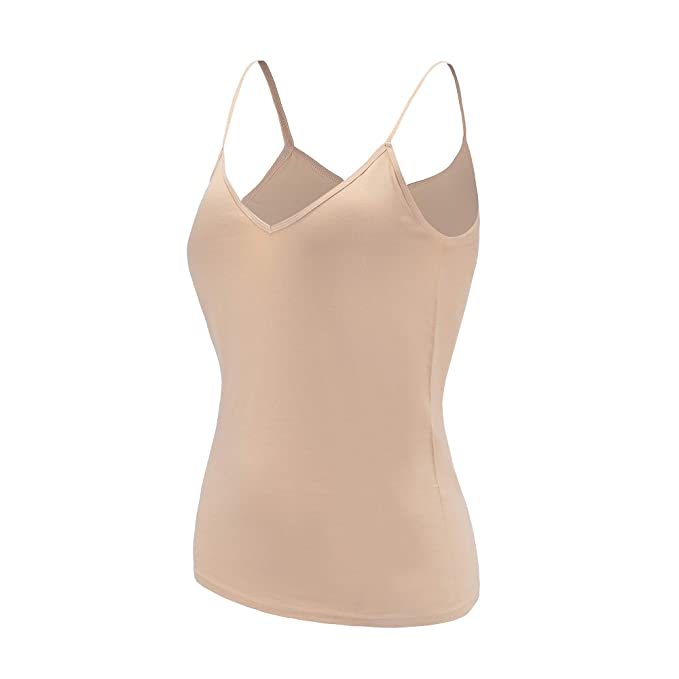 c68687543dff8 YTUIEKY Women s Cami Camisole Basic Seamless Solid Long Length Spaghetti  Strap Tank Top  at Amazon Women s Clothing store