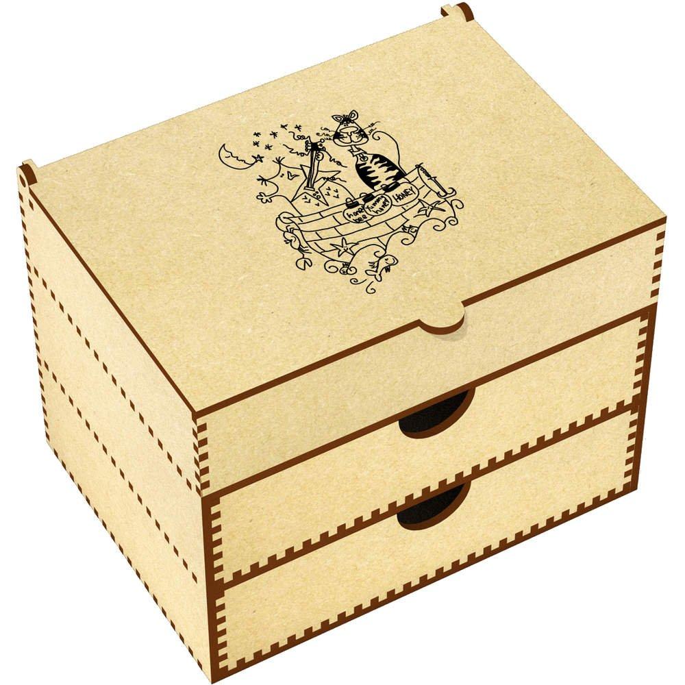Azeeda 'Owl Pussy Cat' Vanity Case / Makeup Box (VC00003633)