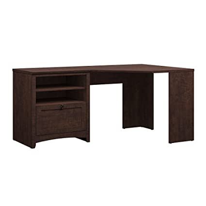 Bush Furniture Buena Vista 60W Corner Desk with Storage in Madison Cherry - Amazon.com: Bush Furniture Buena Vista 60W Corner Desk With Storage