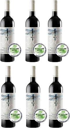 Vino tinto joven ecológico VID-A 70% Monastrell – 30% Syrah DOP Alicante [ CAJA DE 6 BOTELLAS]: Amazon.es: Alimentación y bebidas
