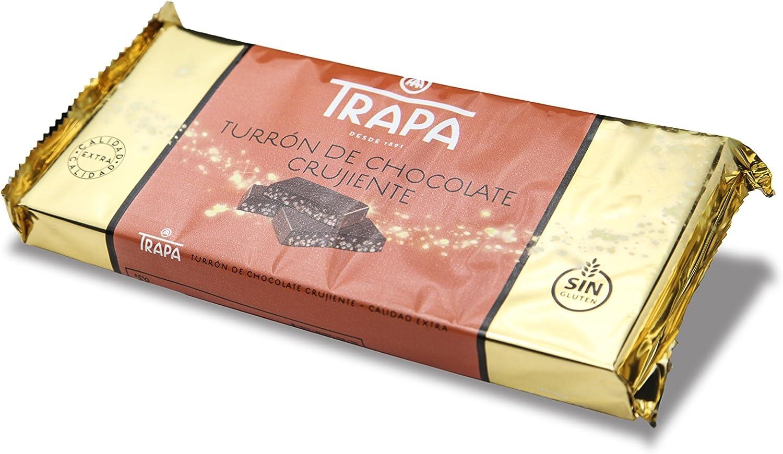 Trapa Tableta de Turrón de Chocolate Crujiente - 200 gr: Amazon.es: Alimentación y bebidas