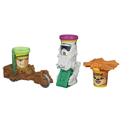 Play-Doh Star Wars Endor Forest Battle Action Figure: Toys & Games