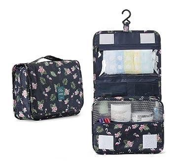 6d2ef3e52 Bolsas de Aseo Cosméticos Neceser de Viaje Impermeable y Plegable P.travel  Maquillaje Organizador de Viaje Neceser con Gancho para hombres y mujeres  ...