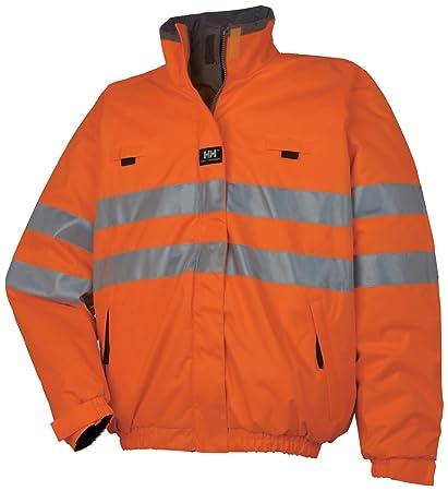 6adc1888b Helly Hansen Motala Reversible Jacket 73256 Reversible Waist Hi-Vis High  Visibility Jacket, EN471 ORANGE, X-Small: Amazon.co.uk: Clothing